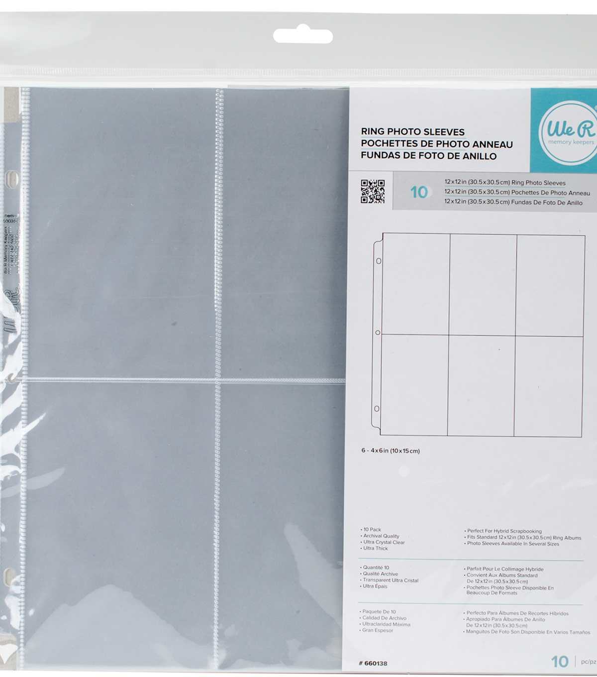 We R Ring Photo Sleeves 12x12 10pkg 6 6x4 Pockets Joann