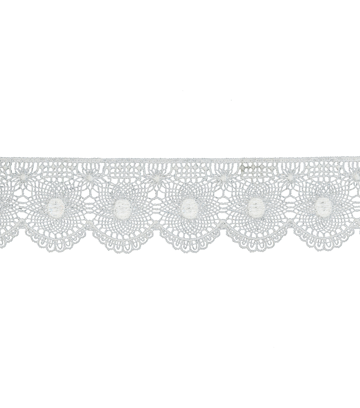 Simplicity Trims-1 3/4\u0022 Tattered Lace Wide White 3Ft
