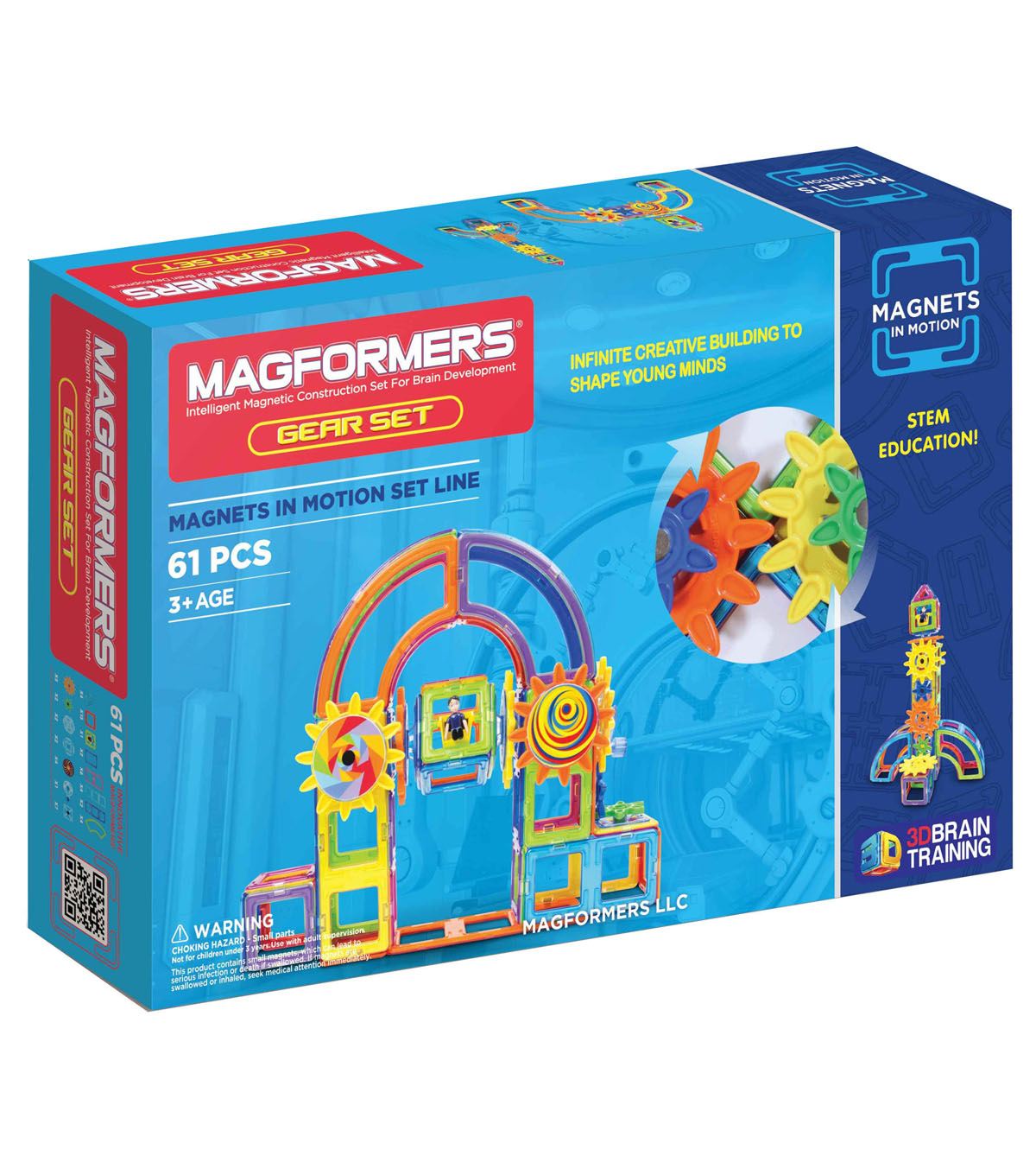 Magnets in Motion 61pc Gear Set