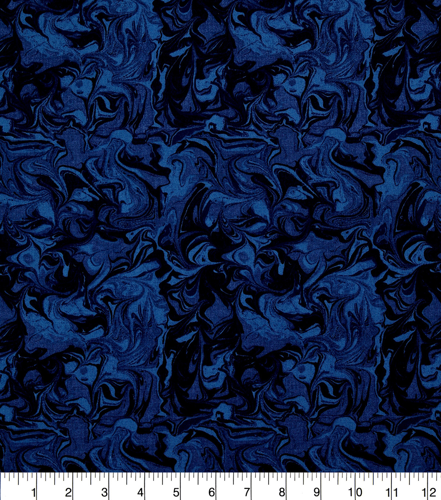 Keepsake Calico Cotton Fabric-Dark Blue Oil Slick