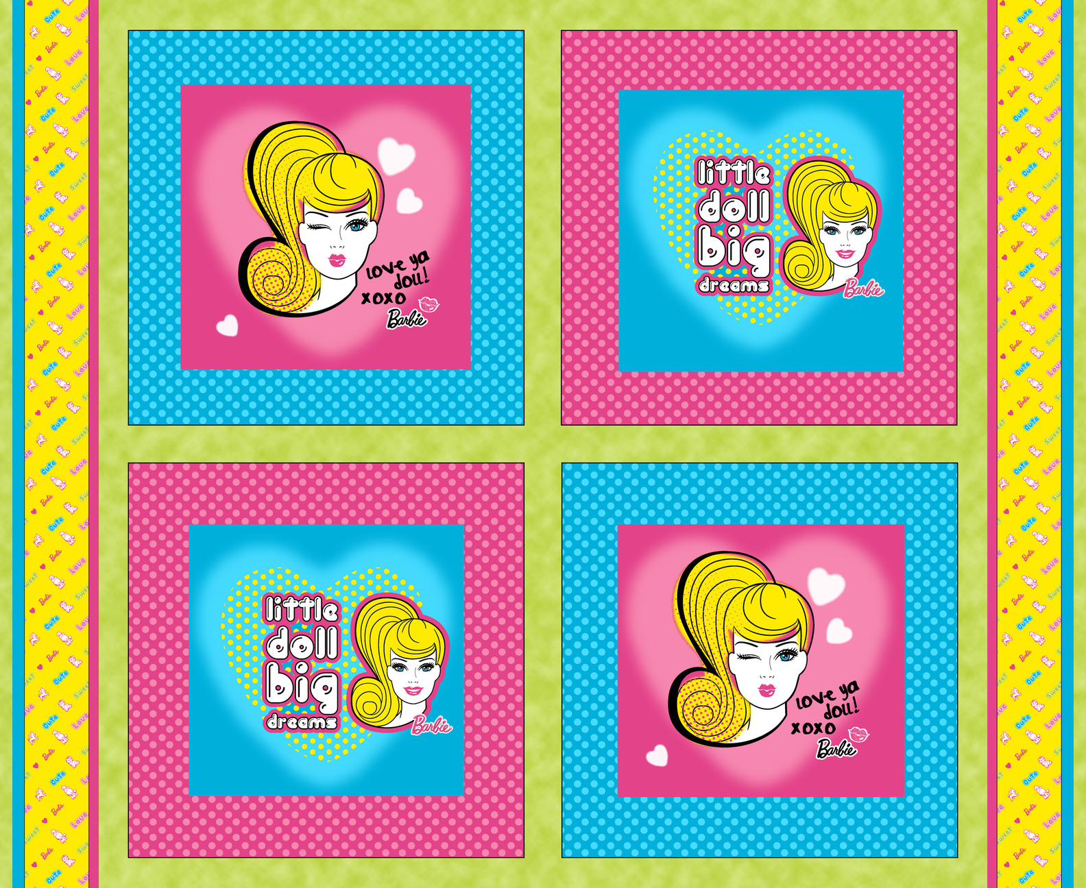 Barbie Block Cotton Fabric