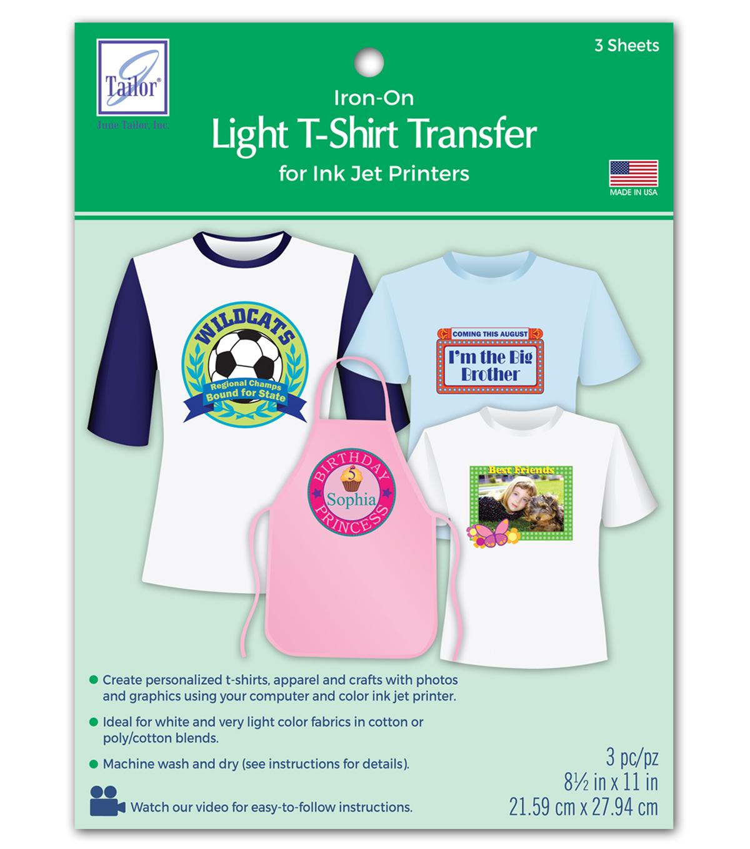 2bf102ec June Tailor Light T-Shirt Transfer Paper 3/Pkg   JOANN