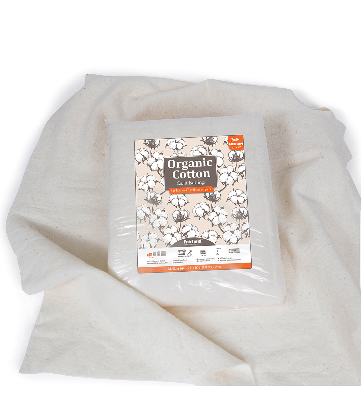 Fairfield Premium Organic Cotton Batting-Twin