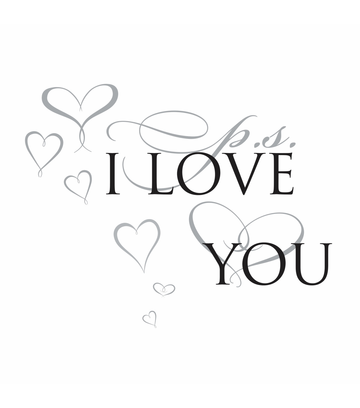 York Wallcoverings Wall Decals-PS I Love You