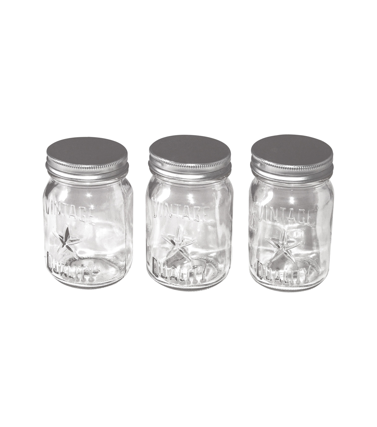 Small glass jars