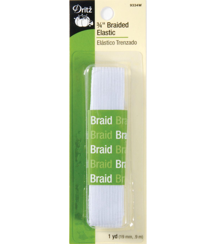 8-Yard by 1//4-Inch Singer Braided Elastic White