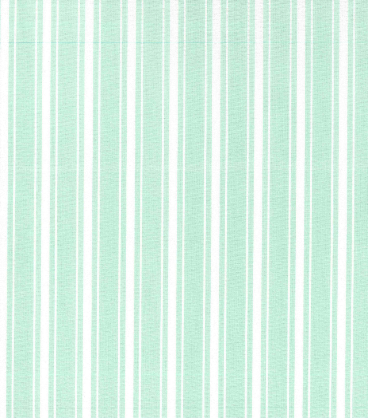 Nursery Cotton Fabric -Mint Stripe