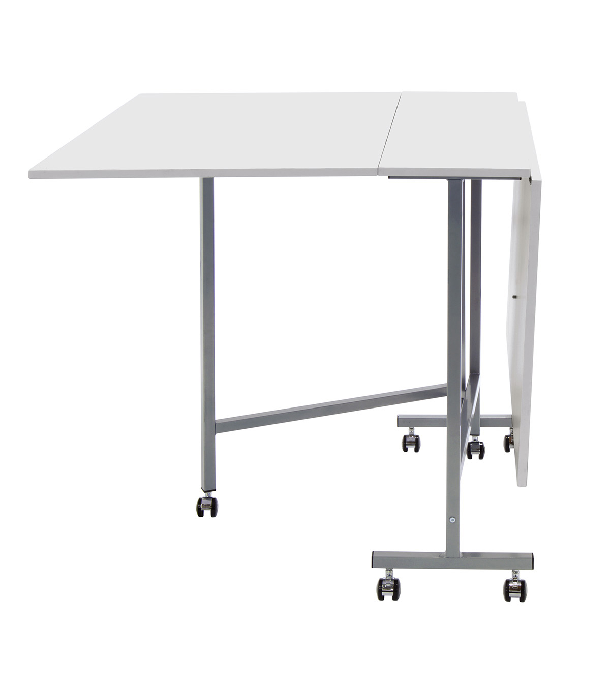 Studio Designs Sew Ready Craft Cutting Table Silver White