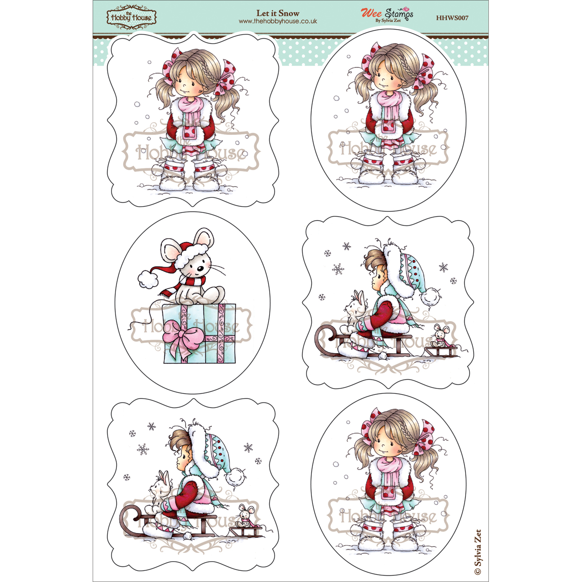 The Hobby House Wee Topper Sheet Let It Snow