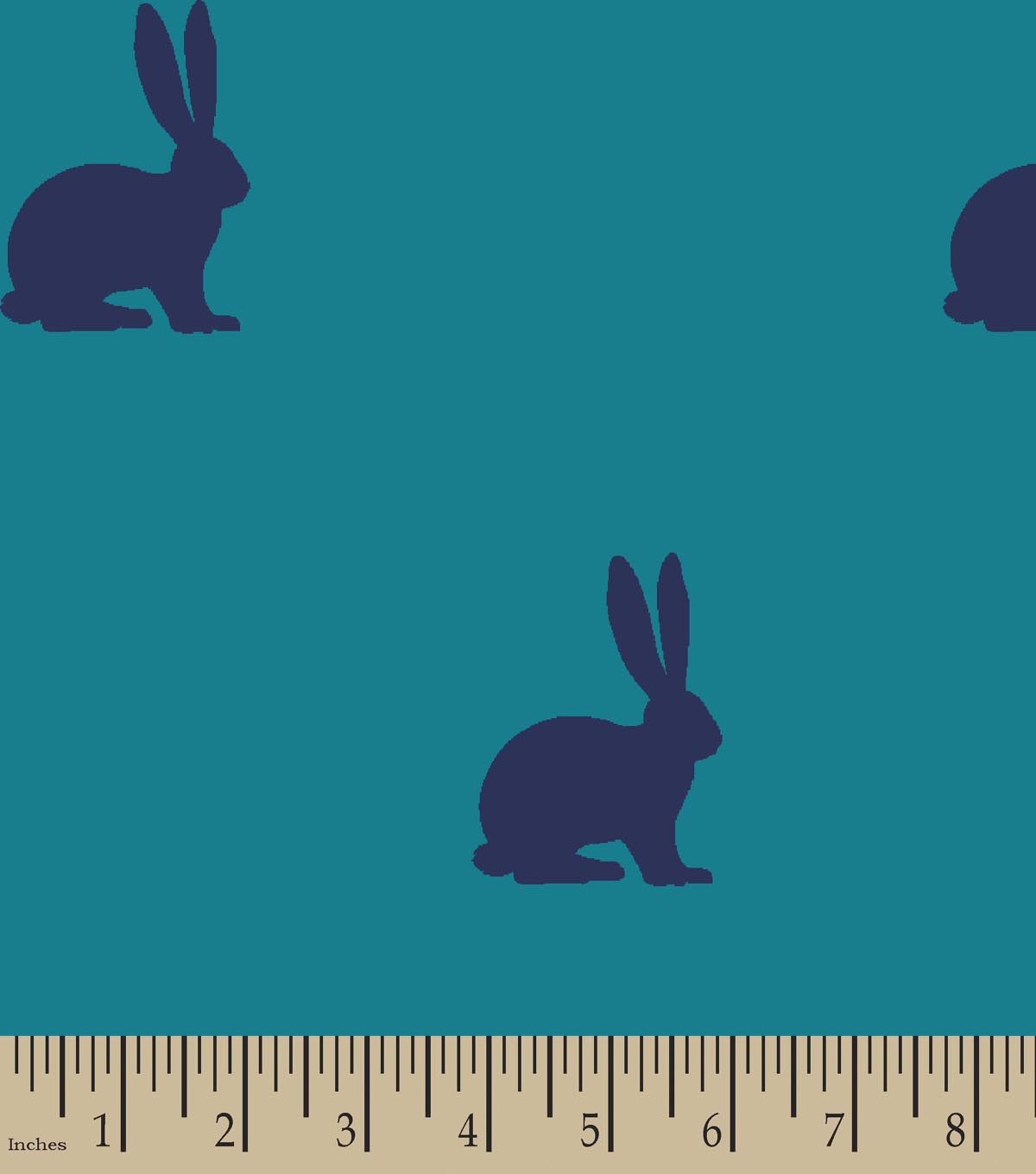 Rabbits Print Fabric