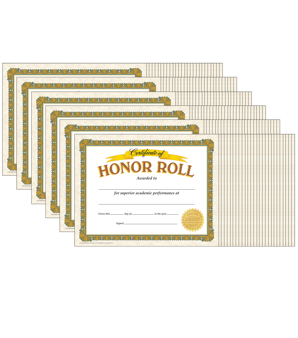 Trend Enterprises Inc. Honor Roll Classic Certificates, 30 Per Pack