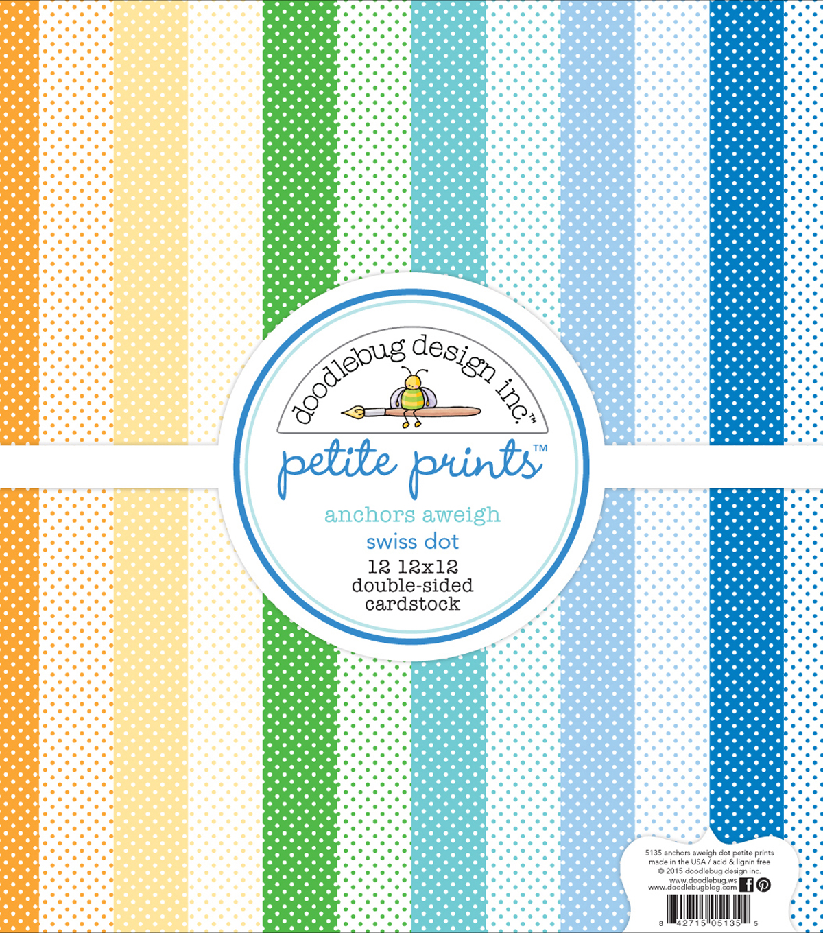 Doodlebug Petite Prints Double-Sided Cardstock 12\u0022X12\u0022-Anchors Aweigh