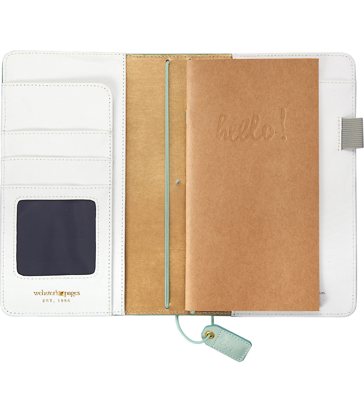 Webster\u0027s Pages Color Crush Faux Leather Traveler\u0027s Planner-Aspen Green