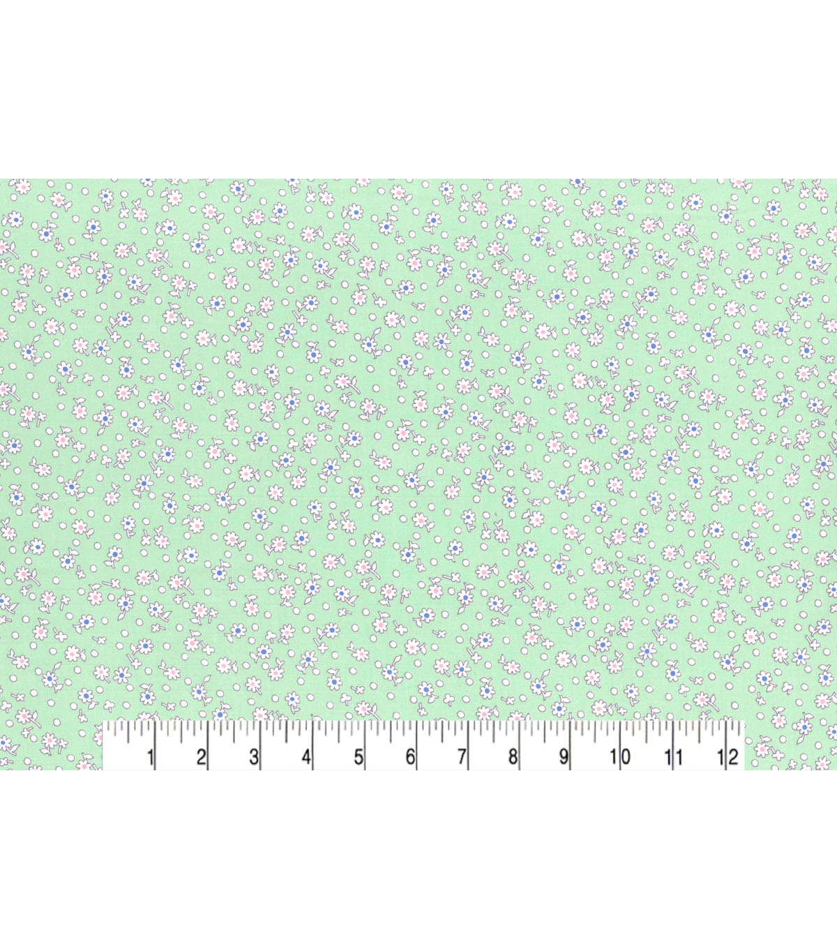1930\u0027s Premium Cotton Print Fabric 43\u0027\u0027-Budding Flowers on Green