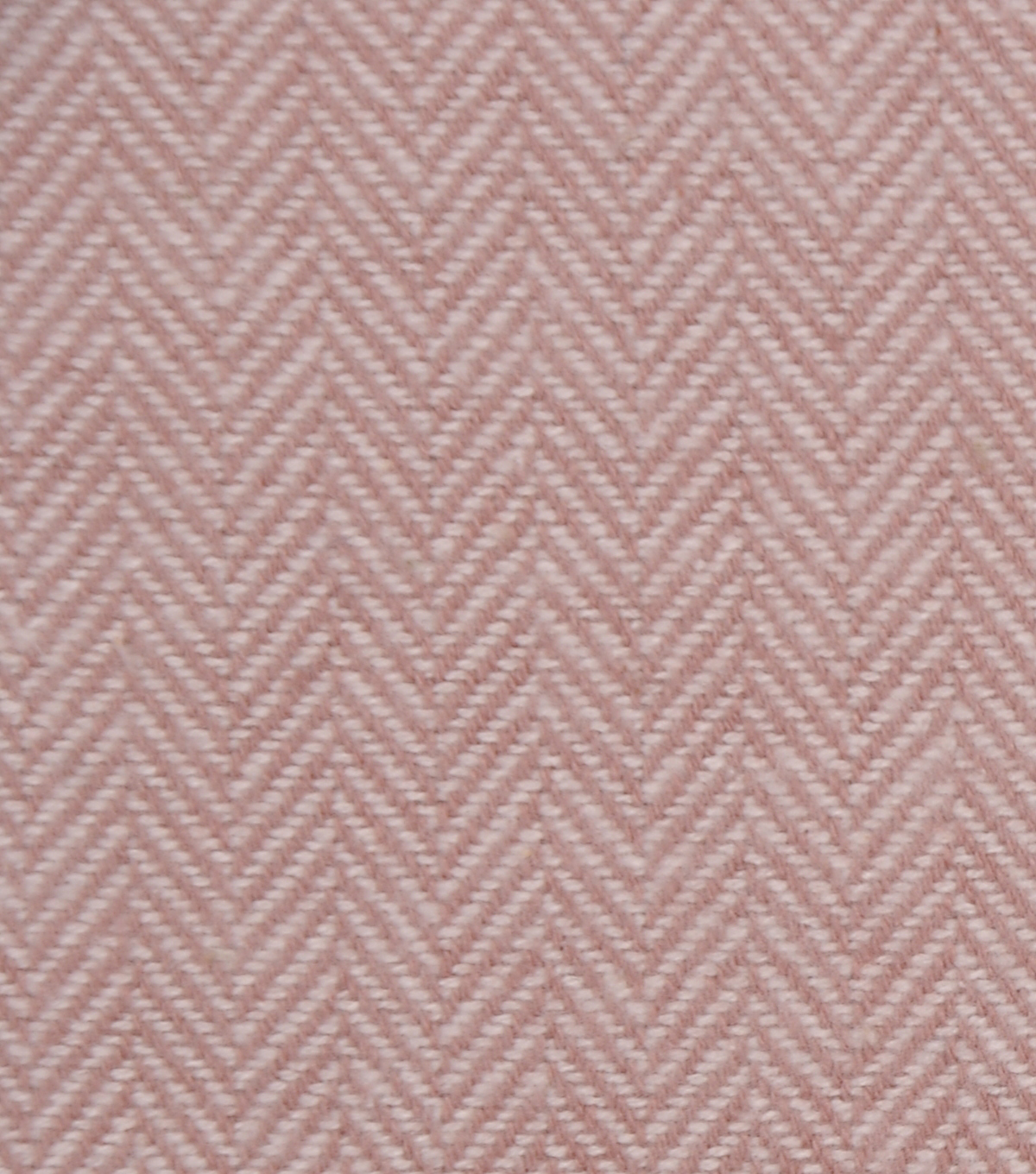 Plaiditudes Brushed Cotton Apparel Fabric -Ivory & Pink Herringbone