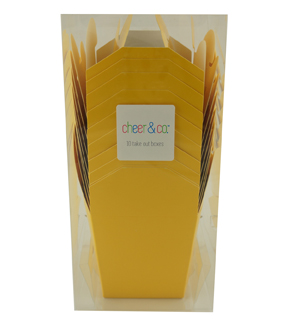 Cheer & Co 10ct Take Out Boxes-Yellow