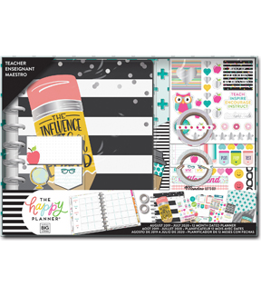 The Happy Planner 12-Month Dated Medium Planner Box Kit-Never Be Erased