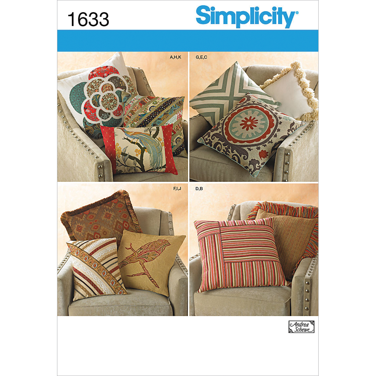 Simplicity Pattern 1633OS One Size -Simplicity Crafts Ho