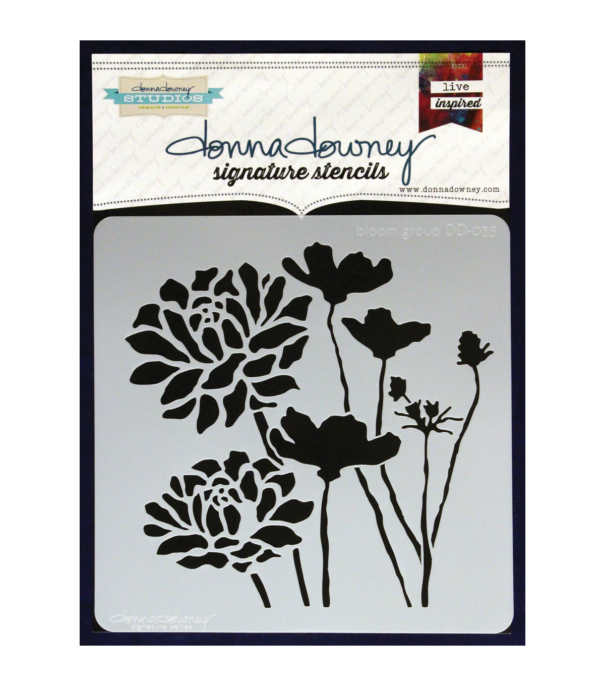 Donna Downey Signature 8.5\u0027\u0027x8.5\u0027\u0027 Stencil-Bloom Group