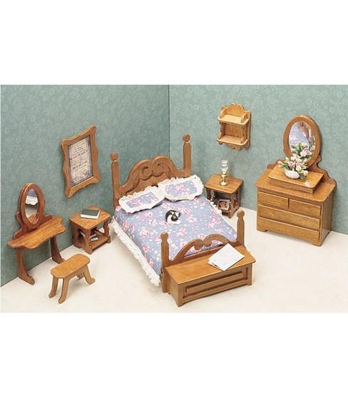 Delightful Greenleaf Dollhouse Furniture Bedroom Set