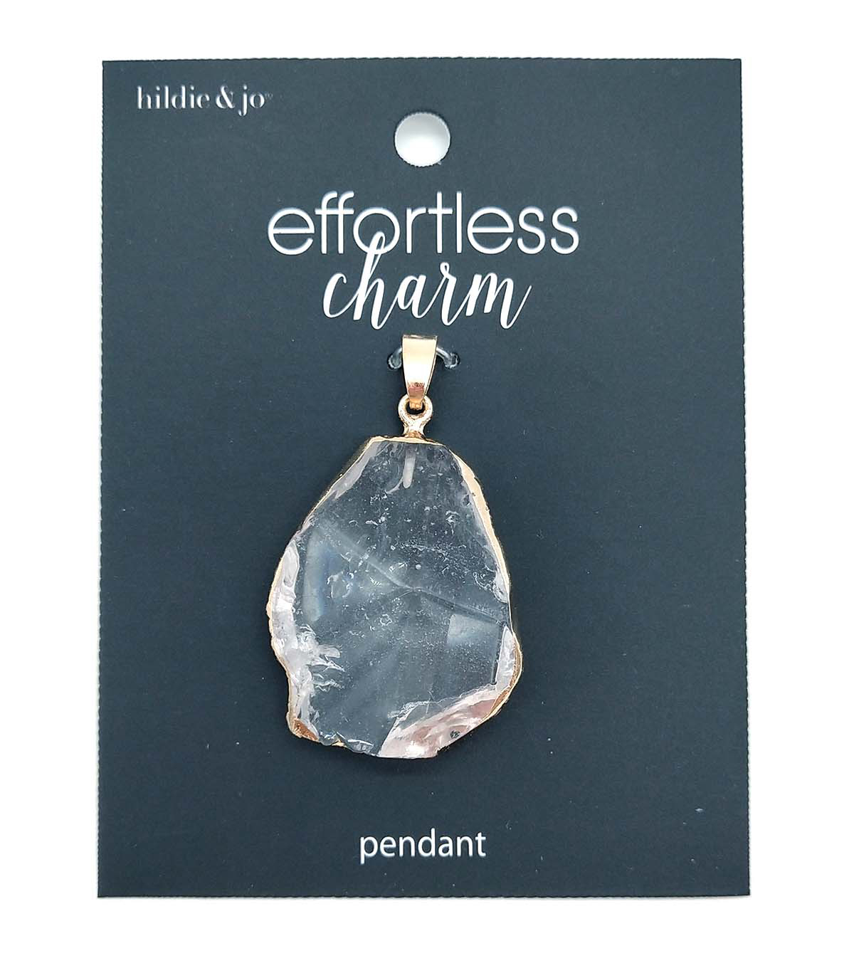 hildie & jo Stone Pendant-Clear