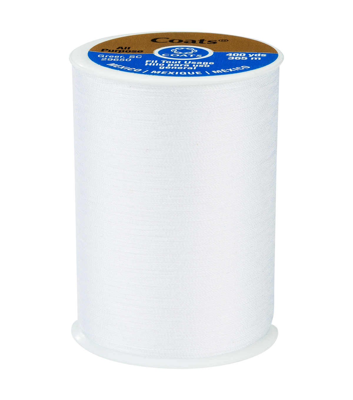 Coats & Clark Dual Duty Thread-400yds, 0001 White