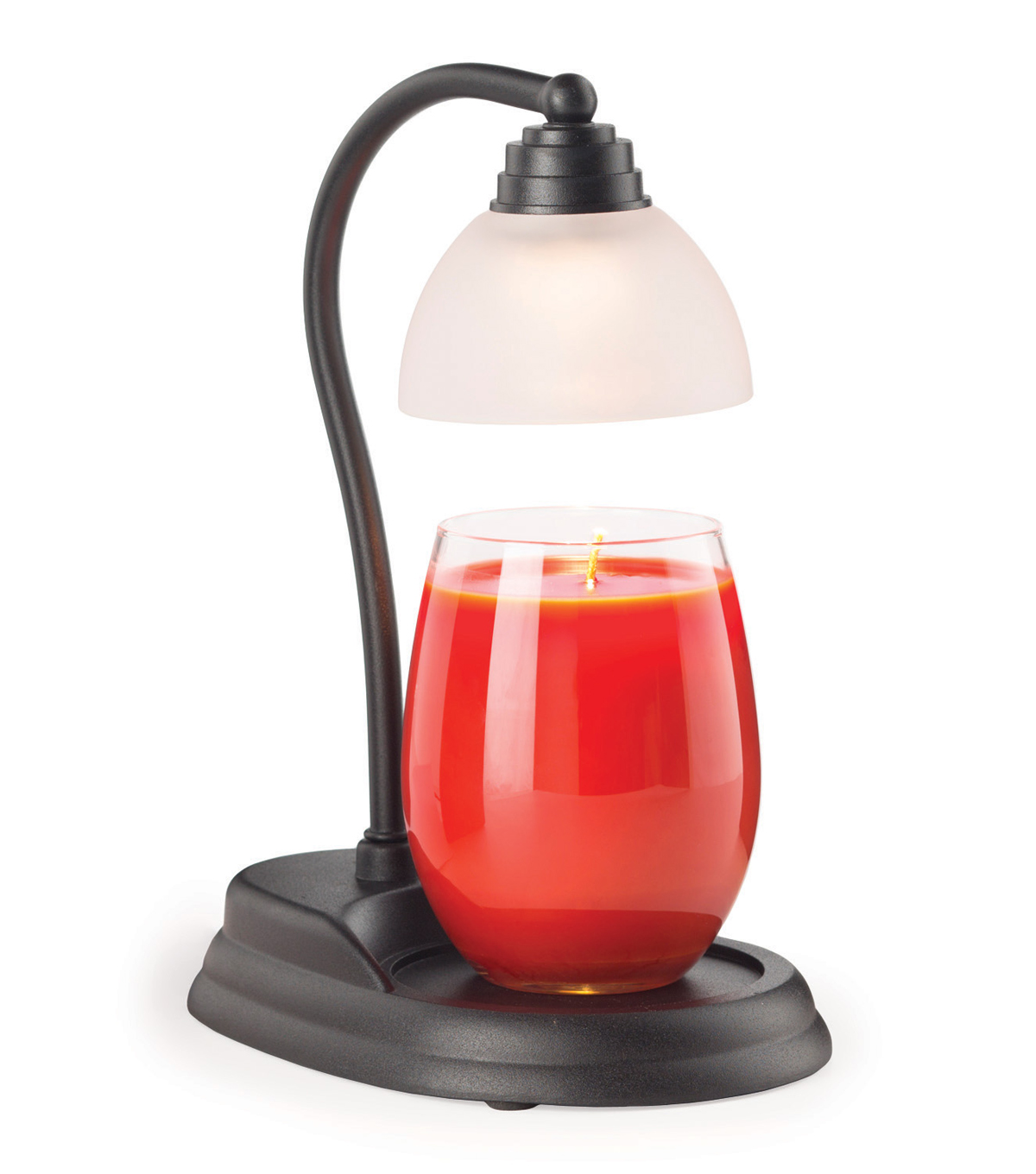 Hudson 43 Candle & Light Aurora Candle Warmer Lamp-Black