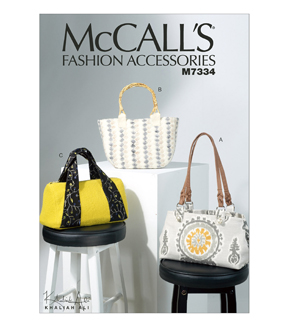 McCall Pattern M7334-OSZ Bags in Three Styles-One Size Only