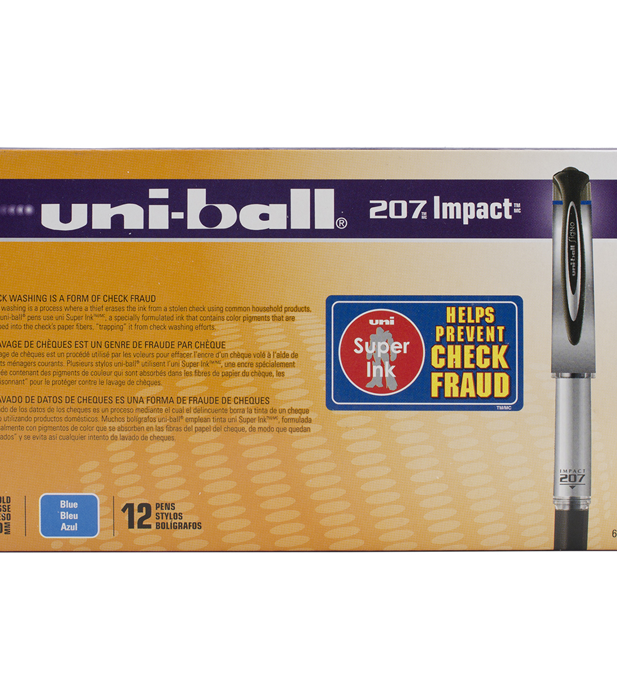 Uni-Ball Impact Bold Point Gel Pen Open Stock-Blue