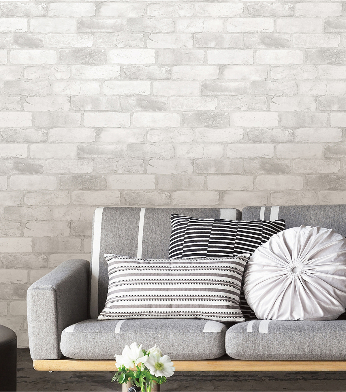 WallPops NuWallpaper 3D Peel & Stick Wallpaper-Brick