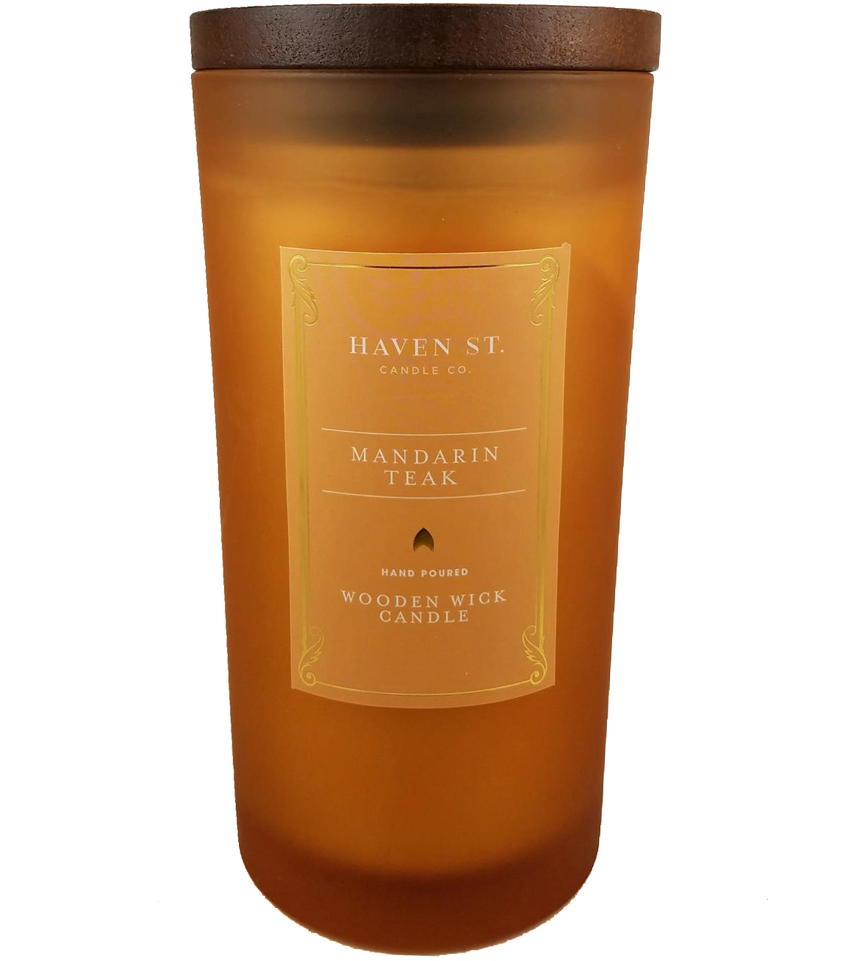 Haven St. 11oz Wooden Wick Jar Candle-Mandarin Teak