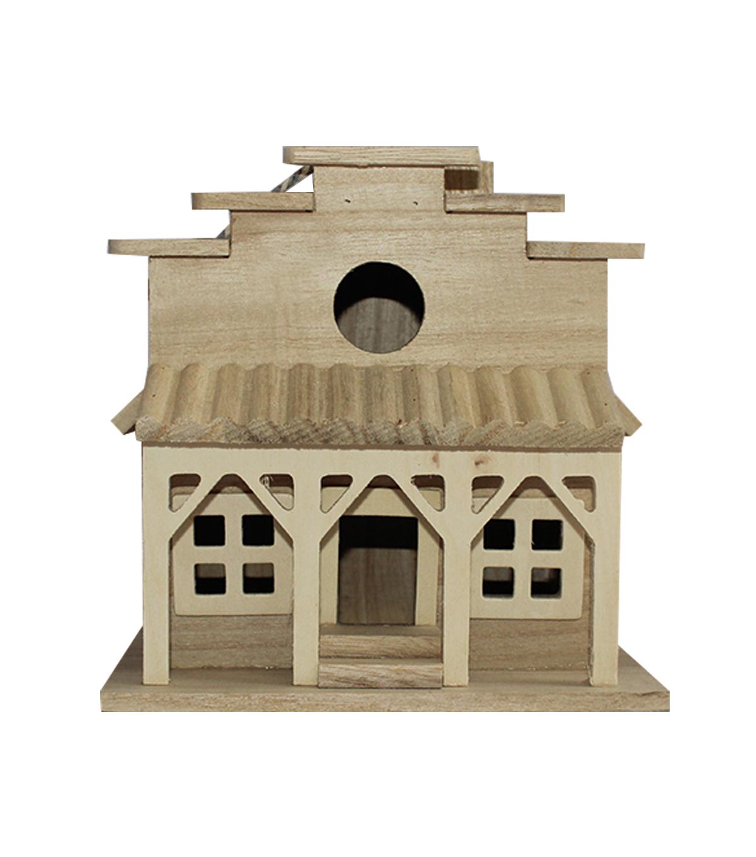 Enjoyable Unfinished Wood Birdhouse Western Store Home Interior And Landscaping Palasignezvosmurscom