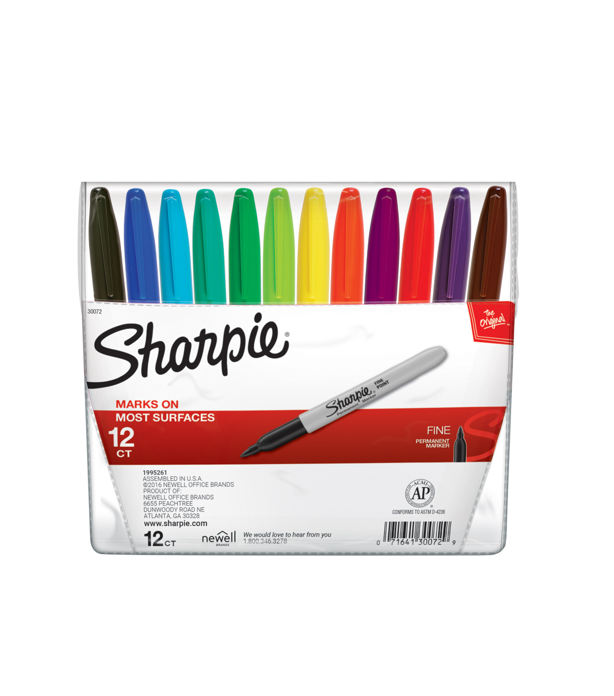sanford sharpie marker color set 12pk fine point