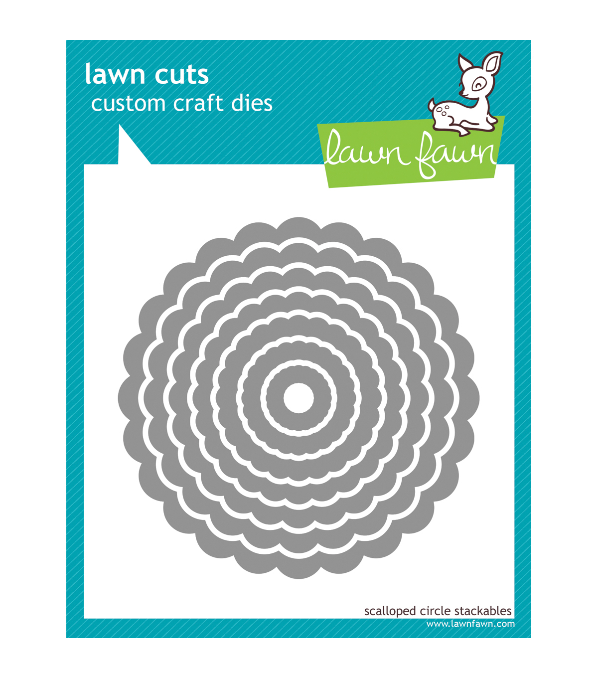 Lawn Fawn Lawn Cuts Custom Craft Die-Scallop Circle Stackables