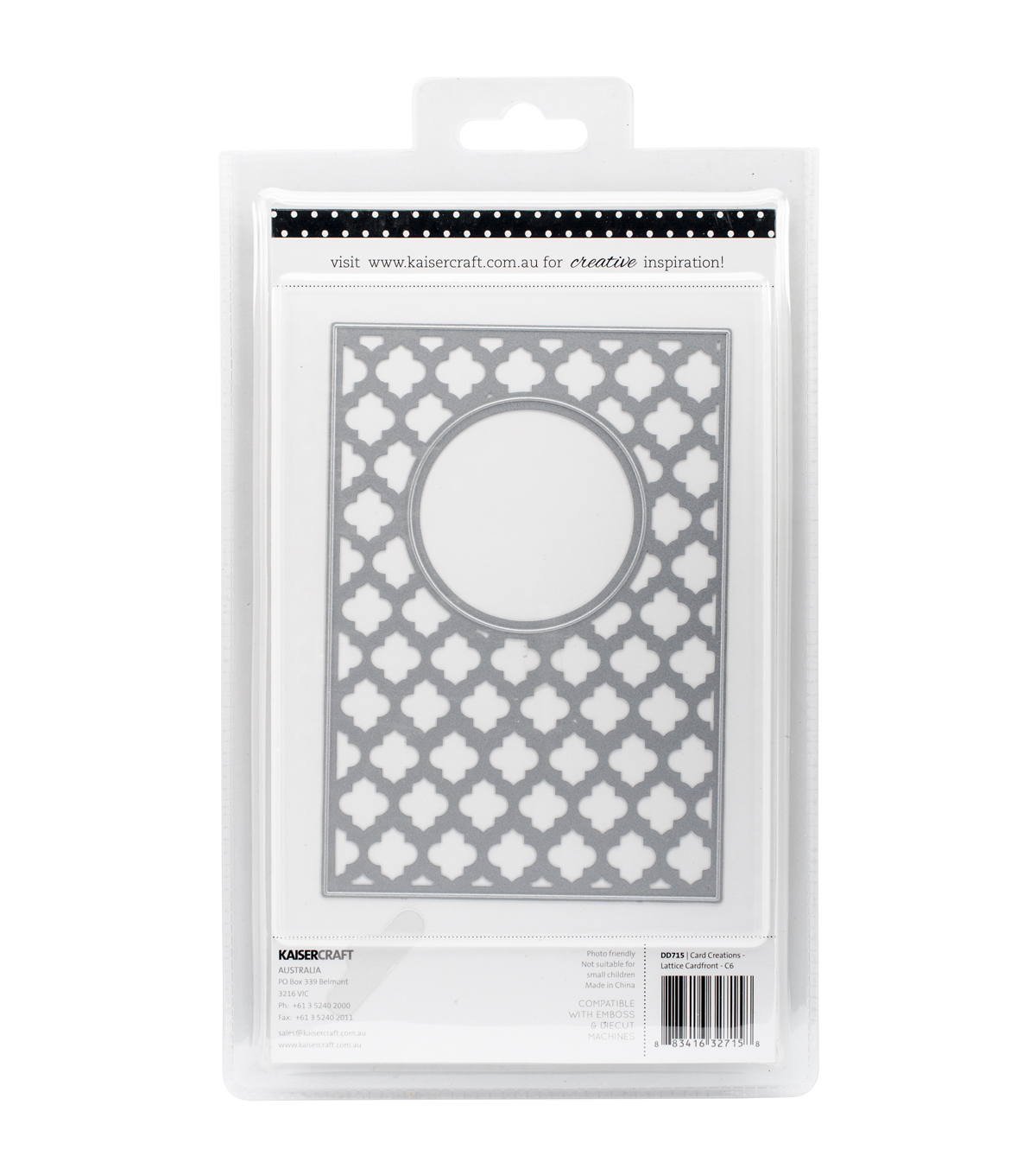 Kaisercraft Card Creations Lattice C6 Card Front Dies 4\u0027\u0027x6\u0027\u0027