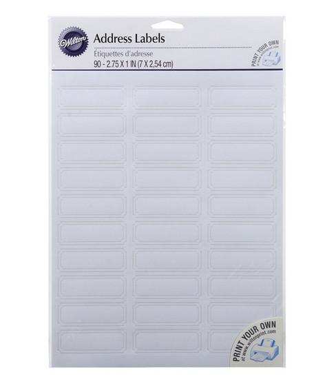 wilton 90 ct white address labels joann
