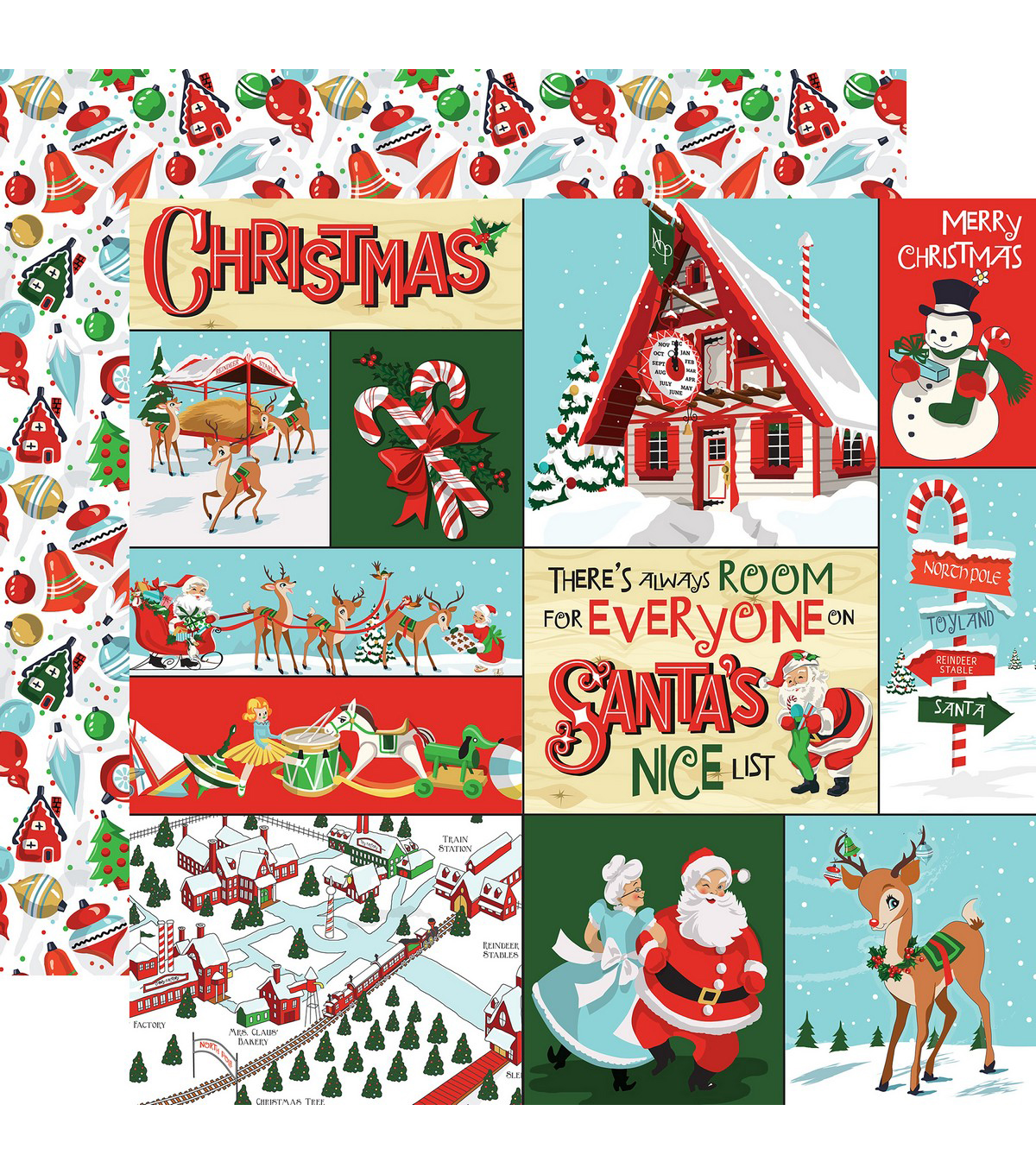 Santa\u0027s Workshop Double-Sided Cardstock 12\u0022X12\u0022-Multi Journaling Cards