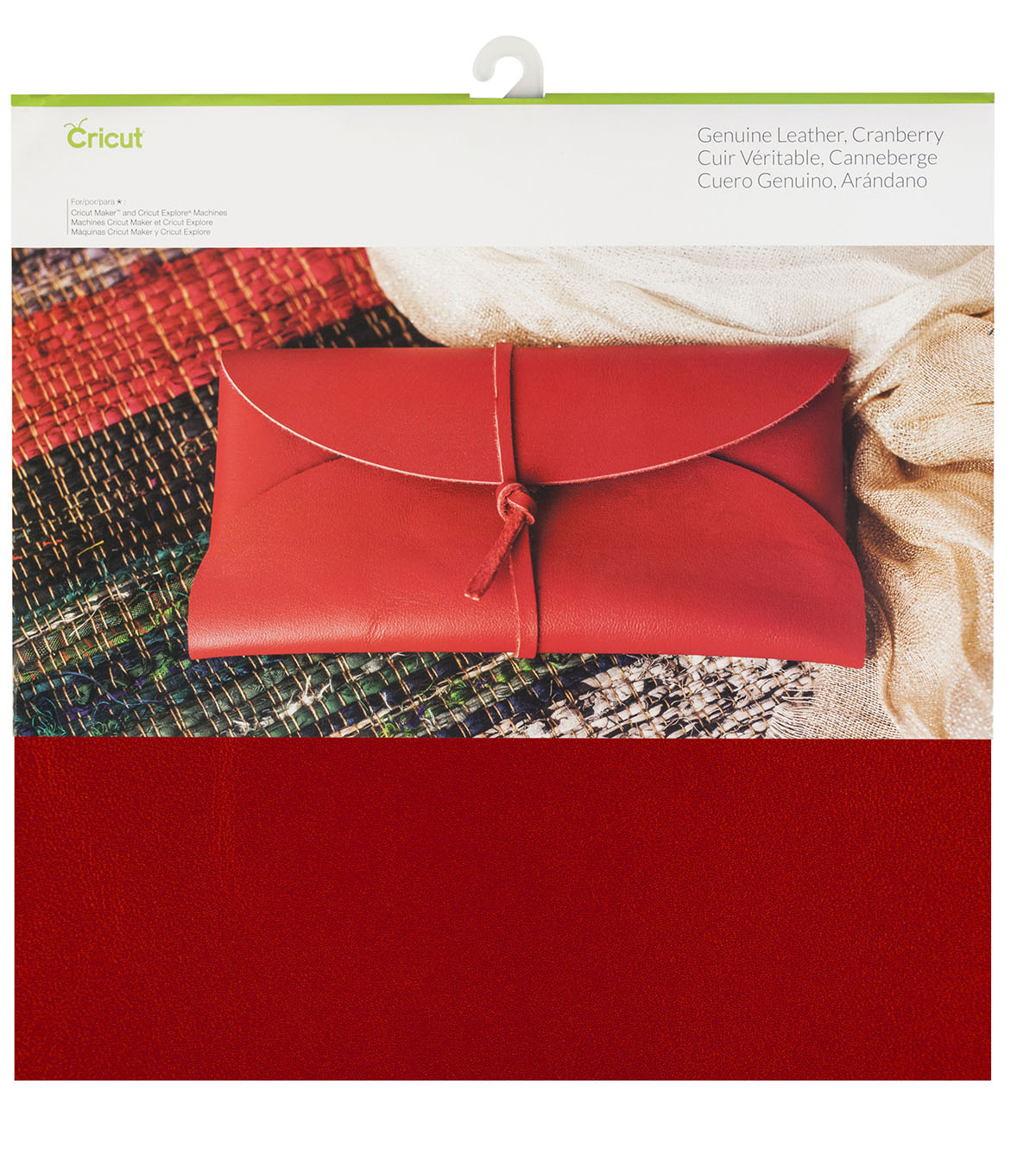 Cricut 12\u0027\u0027x12\u0027\u0027 Genuine Leather-Cranberry