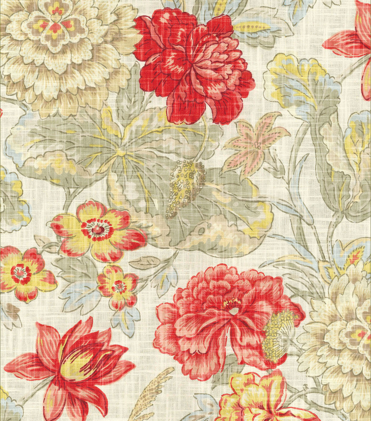 Waverly Multi Purpose Decor Fabric 54u0022 Sonnet Sublime Crimson