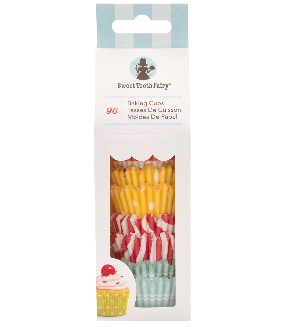 The Sweet Tooth Fairy 96 pk Mini Baking Cups-Bright