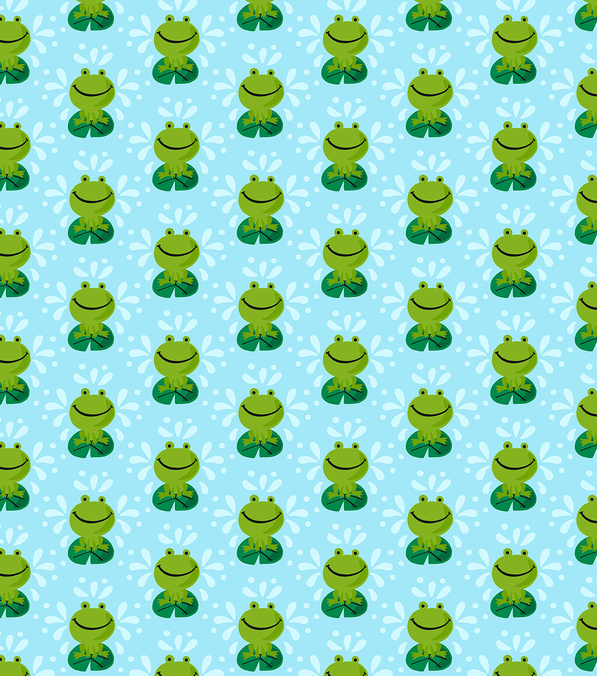 Snuggle Flannel Fabric-Frog On Lily Pad