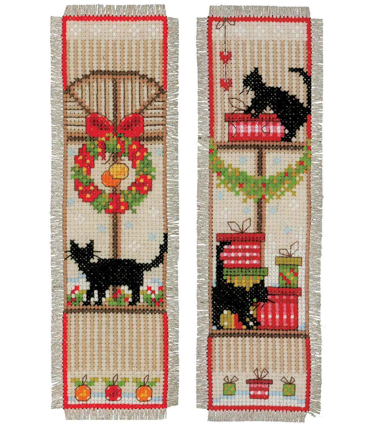 Vervaco 8\u0027\u0027x2.4\u0027\u0027 Counted Cross Stitch Kit-Christmas Atmosphere