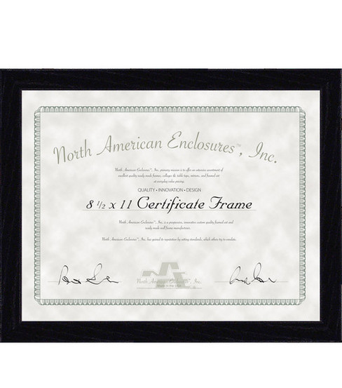 8 12x11 Regal Black Certificate Frame Joann