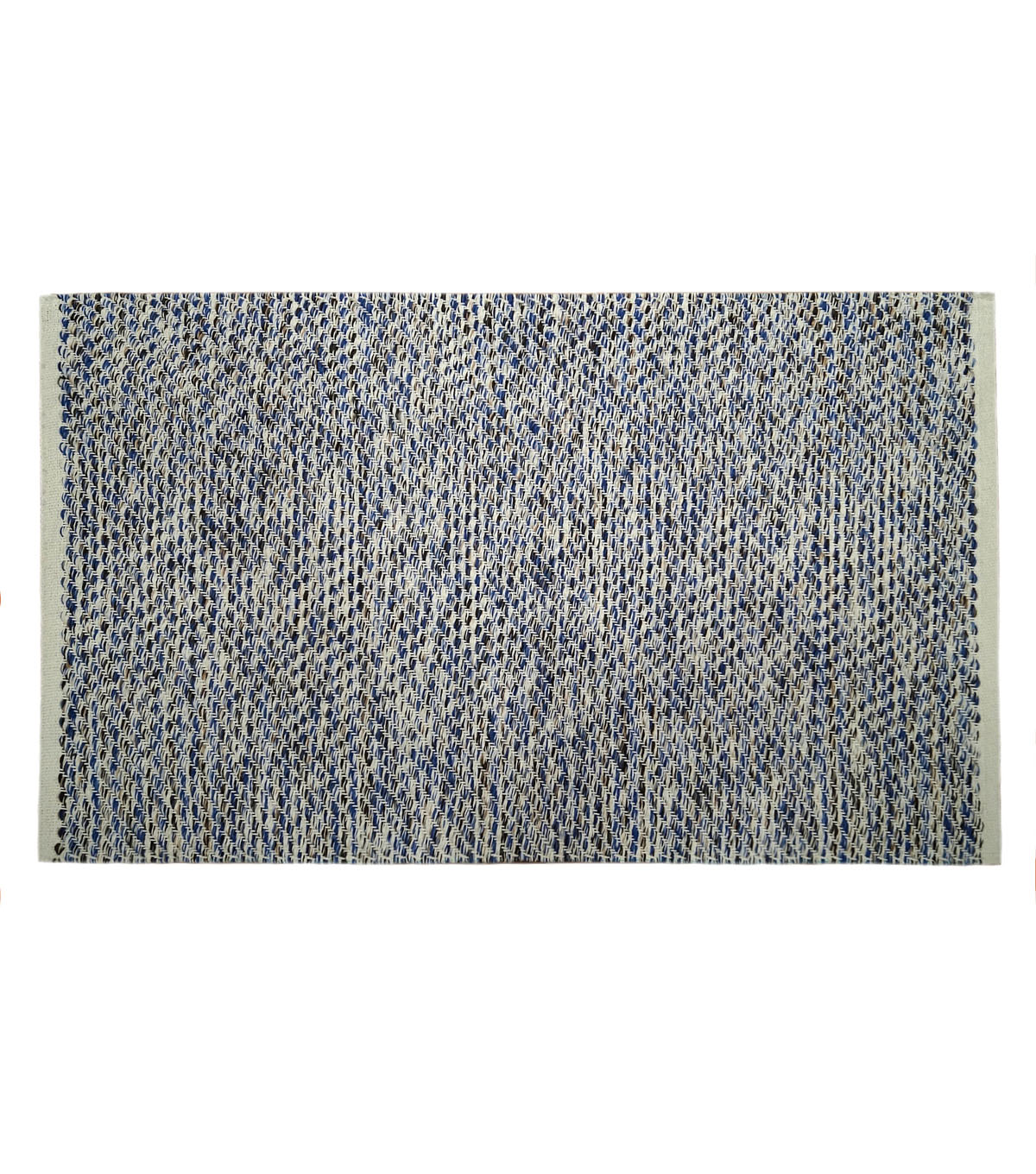 Hudson 43 Global Journey Cotton Textured Rug-Blue