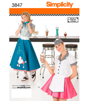 Simplicity Pattern 3847Misses 50\u0027s Girl Costumes