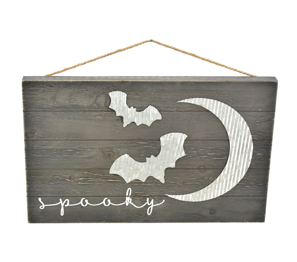 Maker\u0027s Halloween 18.88\u0027\u0027x11.75\u0027\u0027 Wall Decor-Spooky & Bats