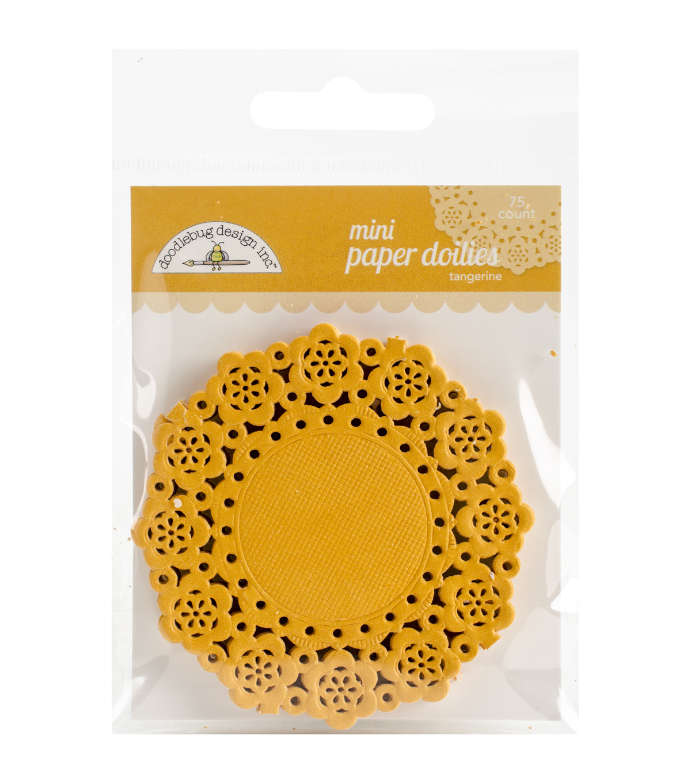 Doodlebug Mini Paper Doilies Joann Doyleys Tangerine