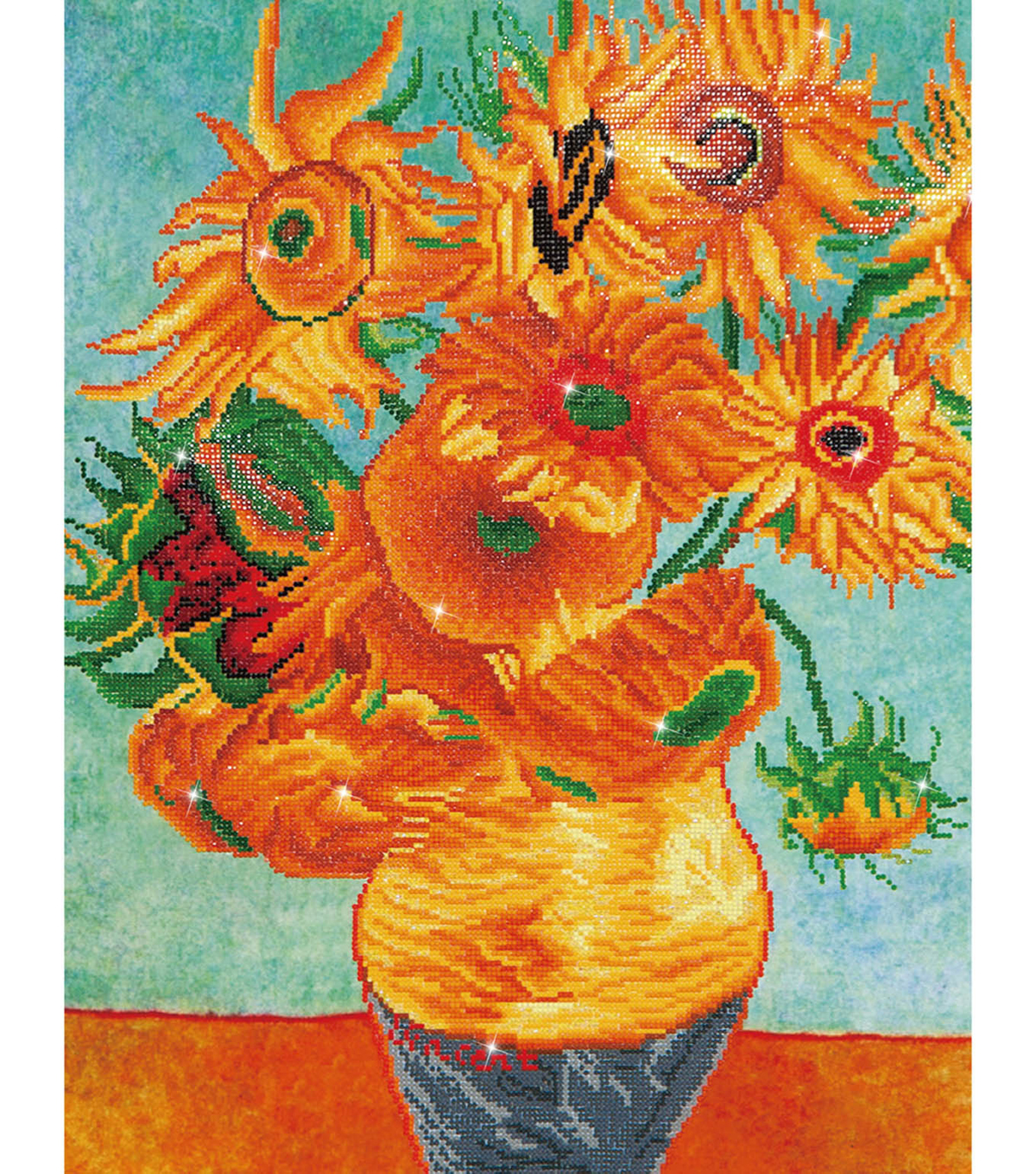 Diamond Embroidery Facet Art Kit 25.2\u0022X31.5\u0022-Sunflowers (Van Gogh)
