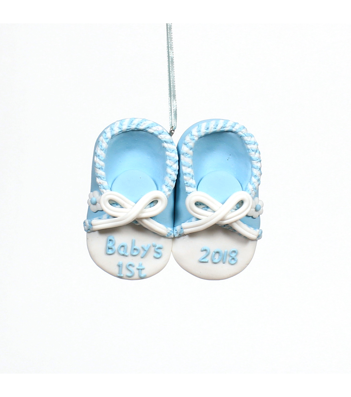 Maker\u0027s Holiday Christmas Baby Boy Shoes Ornament