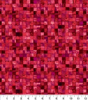 Keepsake Calico Cotton Fabric 43\u0022-Red Mosaic